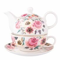 Altom Porcelanowy dzbanek do herbaty z filiżanką Anemon