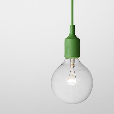 Lustr E27 SOCKET, zelený