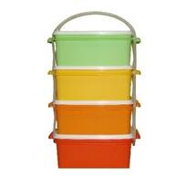 Plastový jídlonosič 4x 1,4 l, 18 x 17 x 30,5 cm