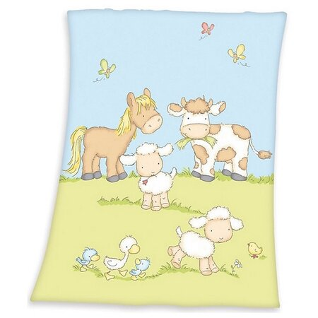 Pătură de copiii Fynn Farm, 75 x 100 cm