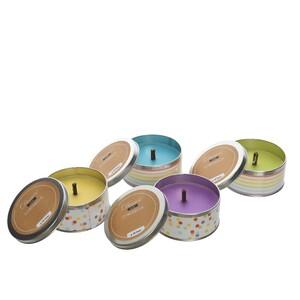 Repelentní svíčka Citronella v plechu fialová