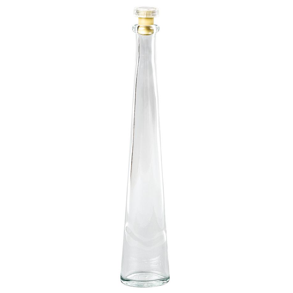 Dekoračná sklenená fľaša