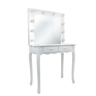 Kozmetický stolík so zrkadlom Vintage, 140 x 40 x 80 cm