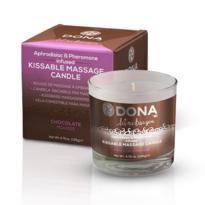 Dona Zbozkávateľná masážna sviečka, čokoláda