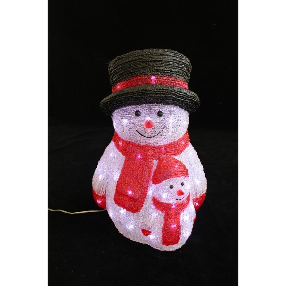 Ledko Vánoční svítící dekorace Sněhuláci, 50 LED