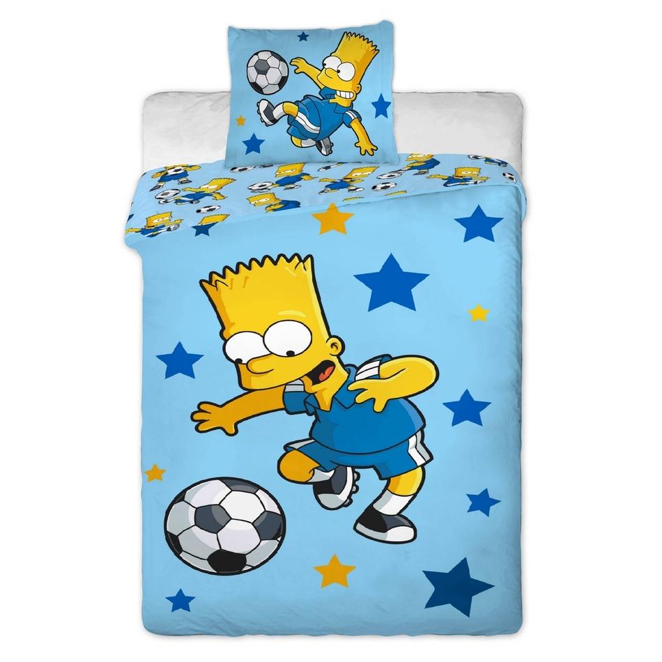 Jerry Fabrics Povlečení Simpsons Bart blue 140x200 70x90
