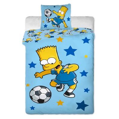Dětské bavlněné povlečení Bart blue, 140 x 200 cm, 70 x 90 cm