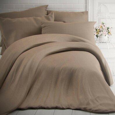 Kvalitex Bavlnené obliečky melír béžová, 200 x 200 cm, 2 ks 70 x 90 cm