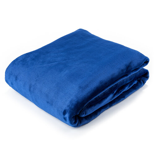 Deka XXL / Přehoz na postel modrá, 200 x 220 cm
