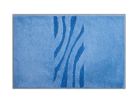 Koupelnová předložka Grund THUNI modrá, 60 x 90 cm