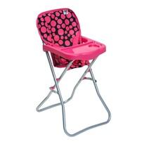 PlayTo Jedálenská stolička pre bábiky Dorotka, ruová