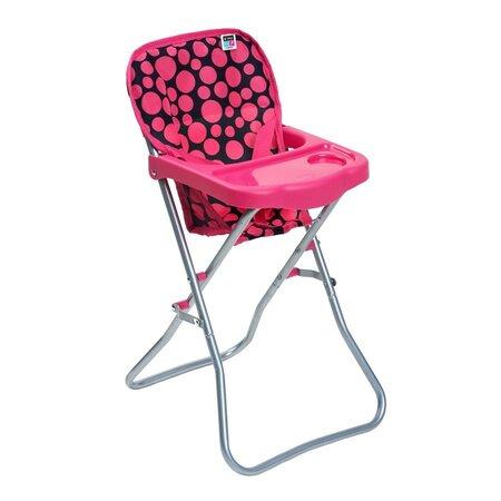 PlayTo Jedálenská stolička pre bábiky Dorotka, ružová