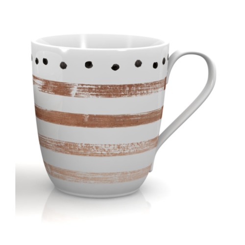 Mäser Sada porcelánových hrnků STRIPES and DOTS II 290 ml, 6 ks
