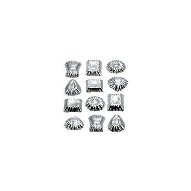 Formičky na čokoládu DELÍCIA, 12 ks, Tescoma, stříbrná