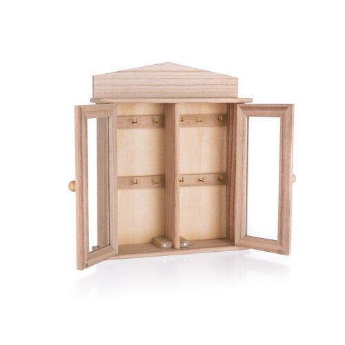 Drevená skrinka na kľúče, 22 x 27 cm
