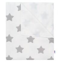 New Baby Aleză impermeabilă din flanel Steluțe albă, 57 x 47 cm