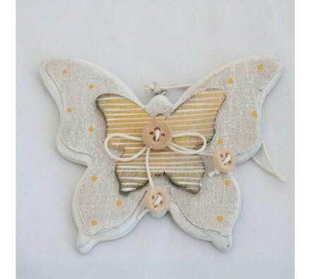 Dřevěný motýl závěsný