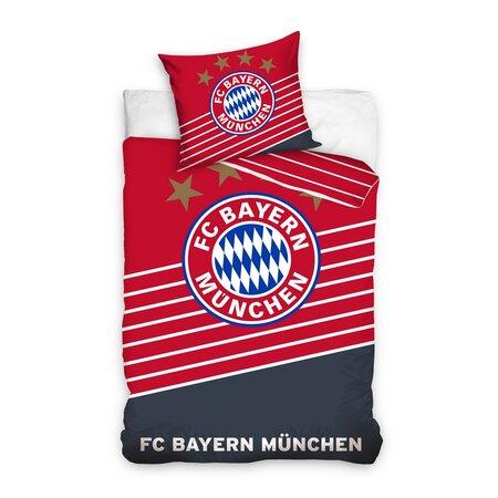 Futbalové obliečky BMFC 02 Bayern, 140 x 200 cm, 70 x 80 cm