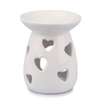 Kominek aromatyczny z ceramiki Serce, 12 cm