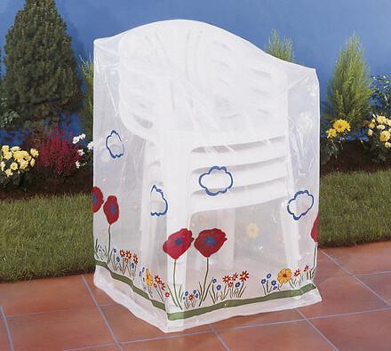 Ochranná fólie na zahradní nábytek skládací židle transparentní