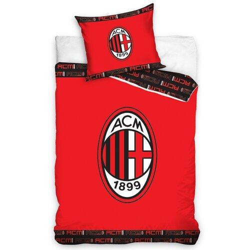 Bavlněné povlečení AC Milán Red, 140 x 200 cm, 70 x 90 cm