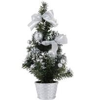 Pom de crăciun împodobit, argintiu