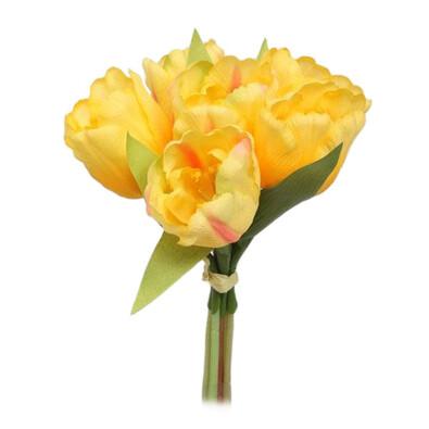 Umělá květina svazek Tulipán, žlutá