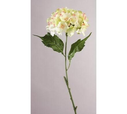 Umělá květina hortenzie zelenobílá