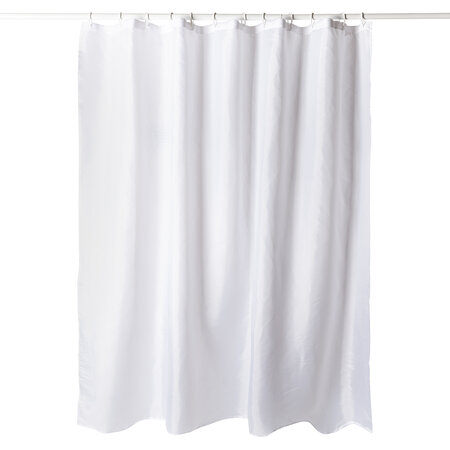 Zuhanyfüggöny, fehér, 180 x 180 cm