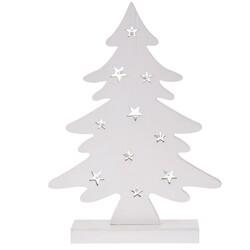 Dekorační vánoční LED stromek, bílá