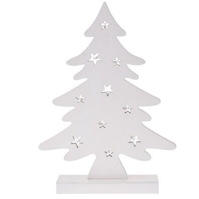 Dekoratív karácsonyi LED fa, fehér