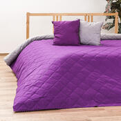 Přehoz na postel Linda, fialovošedá + polštářky zdarma