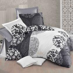 Lenjerie de pat din bumbac Delux Grey fields , 140 x 200 cm, 70 x 90 cm