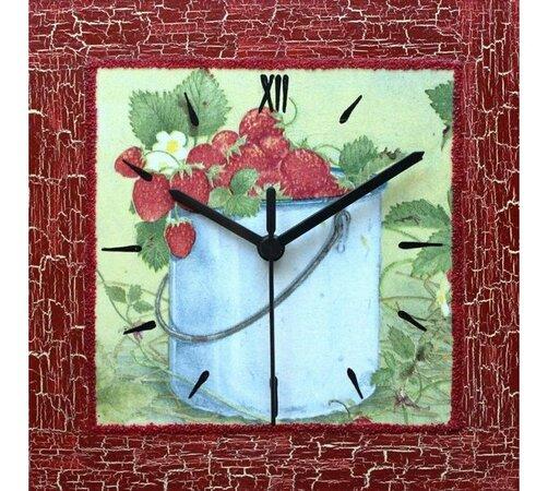 Nástenné hodiny Lesné jahody