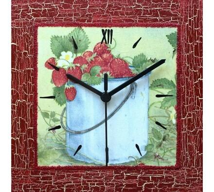 Nástěnné hodiny Lesní jahody