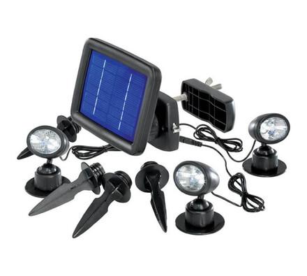Solární bodové osvětlení Esotec Trio, černá, 14,5 x 10,5 x 2,8 cm