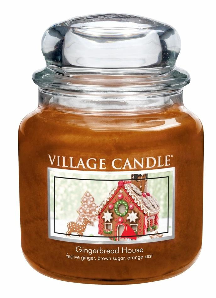 Village Candle Vonná svíčka ve skle, Perníková chaloupka - Gingerbread House, 397 g, 397 g