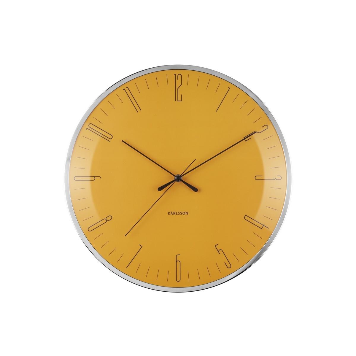 Nástenné hodiny Karlsson Dragonfly, Dome glass KA5754YE, 40cm