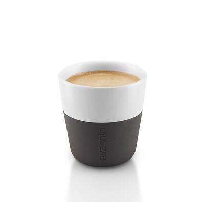 Šálek na espresso 80 ml černý, sada 2 ks