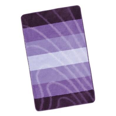 Koupelnová předložka Elli Vlna fialová,60 x 100 cm