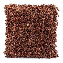 Povlak na polštářek Shaggy hnědá, 45 x 45 cm