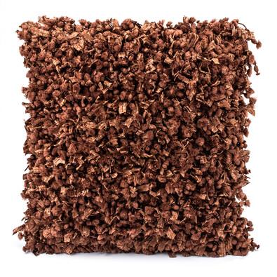 Față mică de pernă Shaggy maro, 45 x 45 cm