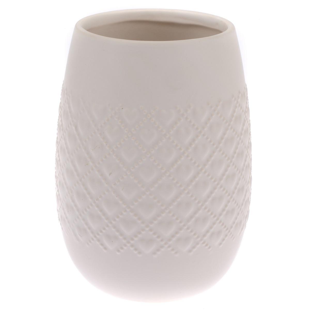 Keramický obal na květináč Fains béžová, 18 cm