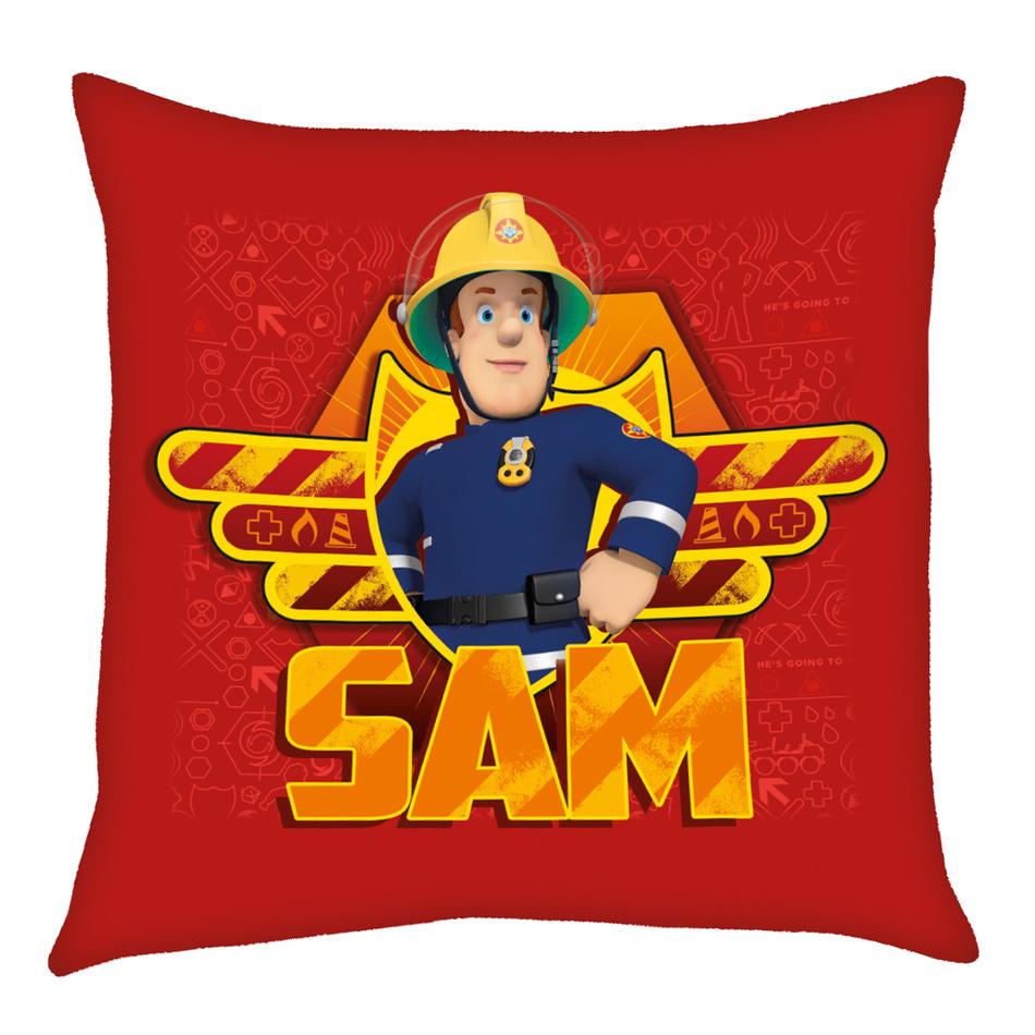 Herding Vankúšik Požiarnik Sam červená, 40 x 40 cm