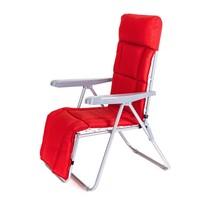 Happy Green Záhradná skladacia stolička Manilla červená, 74 x 57 x 106 cm