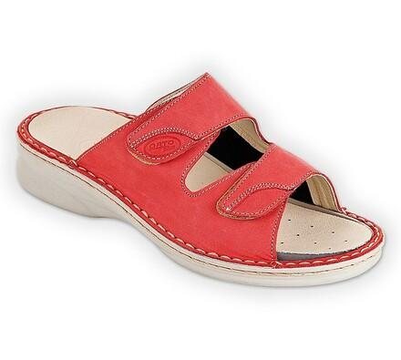 Orto Plus Dámská vycházková obuv červená vel. 40