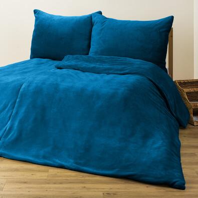 4Home povlečení mikroflanel modrá, 140 x 200 cm, 70 x 90 cm