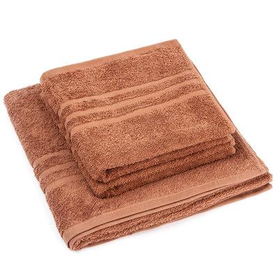 Sada uterákov a osušky Classic hnedá, 2 ks 50 x 100 cm, 1 ks 70 x 140 cm