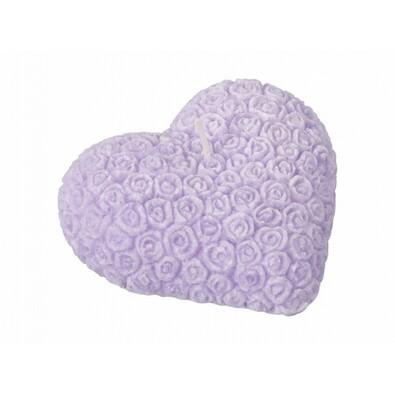 Valentýnská svíčka Srdce, fialová