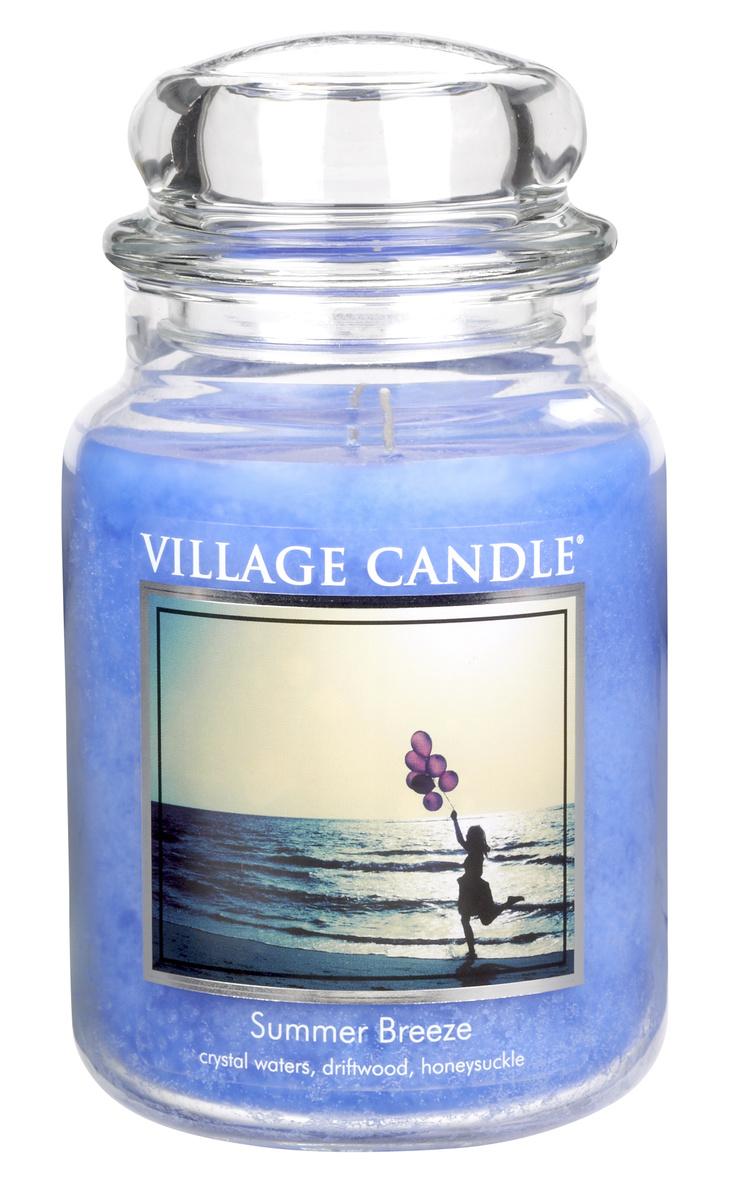 Village Candle Vonná svíčka ve skle, Letní vánek - Summer Breeze, 645 g, 645 g